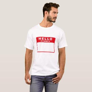 Hola, mi nombre es (el rojo) camiseta