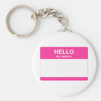 Hola, mi nombre es etiqueta llavero personalizado