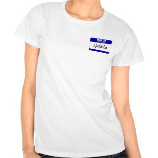 Hola mi nombre es Natasha (azul) Camisetas