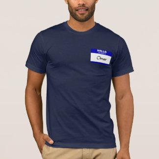 Hola mi nombre es Omar (azul) Camiseta