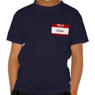 Hola mi nombre es Omar (rojo) Camisetas