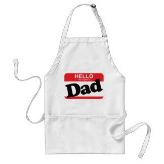 Hola mi nombre es papá delantal