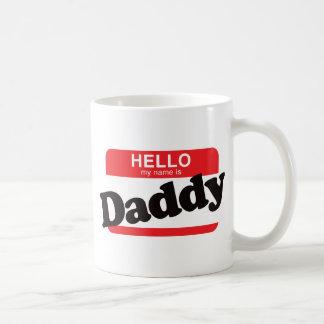 Hola mi nombre es papá taza clásica
