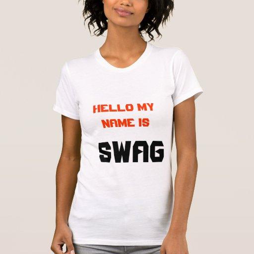 hola mi nombre es swag camisetas