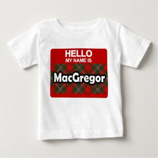 Hola mi nombre es tartán escocés del clan de camiseta