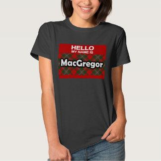 Hola mi nombre es tartán escocés del clan de camisetas