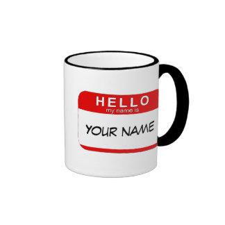 Hola mi nombre es taza