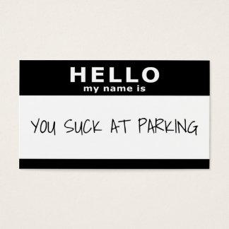 hola mi nombre es usted chupa en el tarjeta de visita