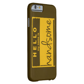 """""""Hola mi nombre es"""" vintage hermoso inspirado Funda Para iPhone 6 Barely There"""