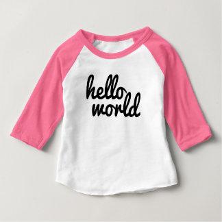 Hola mundo camiseta de bebé