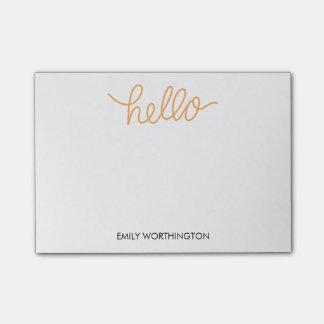 Hola notas de encargo del Poste-it® de las letras