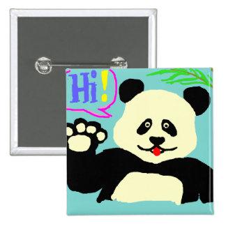 ¡Hola panda! Chapa Cuadrada