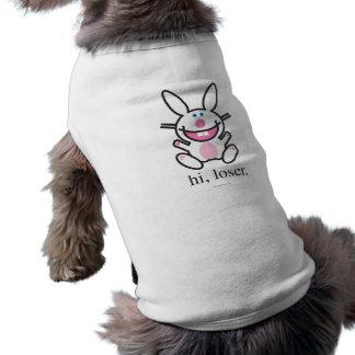 Hola perdedor camiseta sin mangas para perro