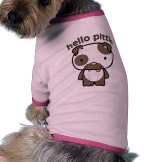 Hola Pittie Camiseta De Mascota
