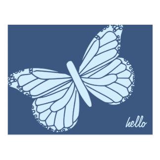 Hola postal del personalizable de la mariposa