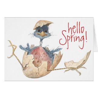 Hola primavera - tarjeta