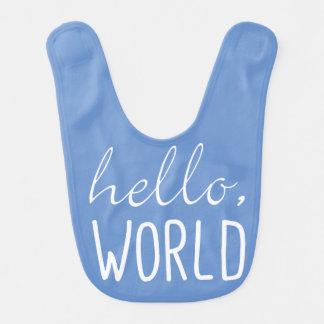 Hola regalo lindo del babero del bebé del mundo
