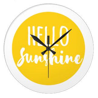 Hola sol reloj redondo grande