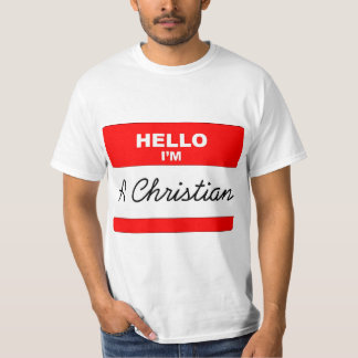 Hola soy un cristiano camiseta