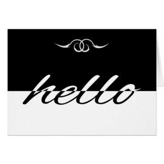 Hola tarjeta