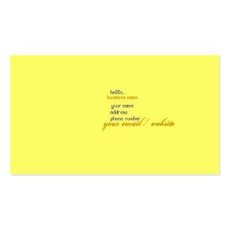 hola… tarjetas de visita