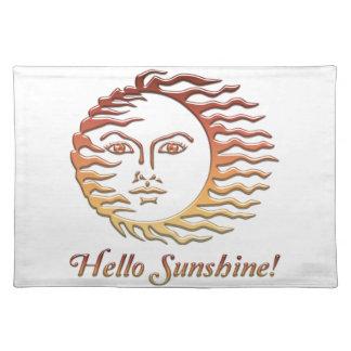 HOLA verano de Sun de la diversión de la SOL Salvamanteles