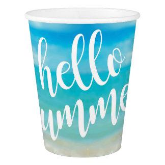 Hola verano - tazas de papel del fiesta vaso de papel