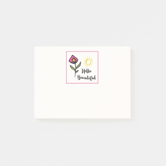 Hola Wildlflowers bonito hermoso y Sun Notas Post-it®