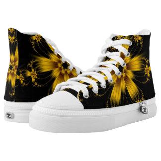 Hola zapatos impresos superiores estallados flor