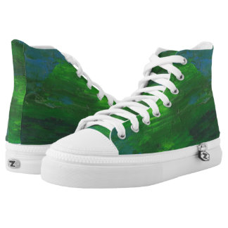 Hola zapatos impresos superiores terrestres