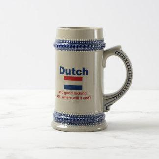 Holandés apuesto jarra de cerveza