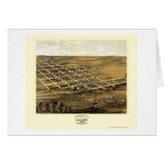 Holden, mapa panorámico del MES - 1869 Tarjeta De Felicitación