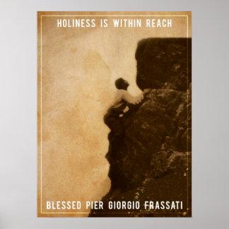 Holiness - Pier Giorgio Frassati bendecido Póster