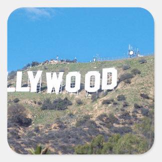 Hollywood Hills Pegatina Cuadrada