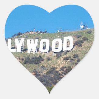 Hollywood Hills Pegatina En Forma De Corazón