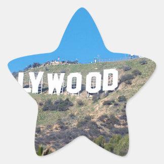 Hollywood Hills Pegatina En Forma De Estrella