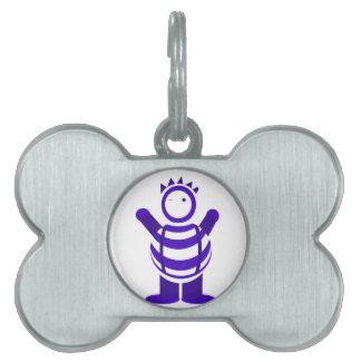 Hombre azul placas mascota
