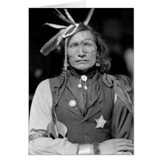 Hombre blanco del hierro 1900 tarjetón