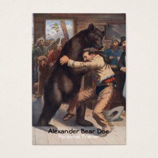 Hombre contra el oso - tarjeta de visita personal