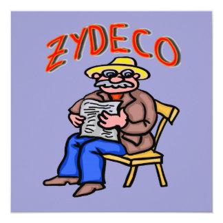 Hombre de Cajun Zydeco Invitación