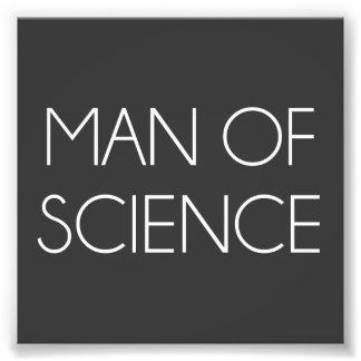 Hombre de ciencia impresión fotográfica