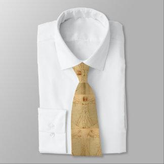 Hombre de da Vinci Vitruvian Corbata Personalizada