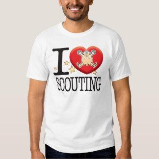 Hombre de exploración del amor camiseta