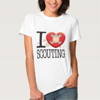 Hombre de exploración del amor camisetas