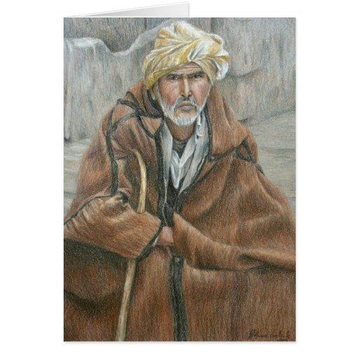 Hombre de la capa de Qashabia Tarjeta