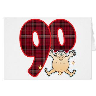 Hombre de la estrella de 90 edades tarjeta de felicitación