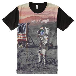 Hombre de la luna de Hollywood - camiseta de la