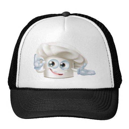 Hombre de la mascota del gorra de los panaderos