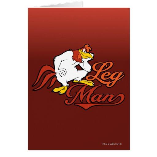 Hombre de la pierna tarjeta