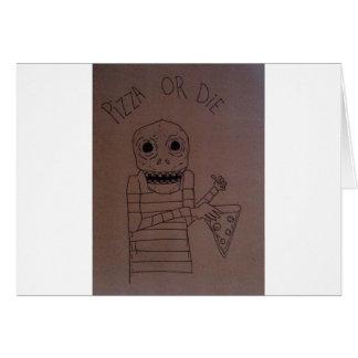 Hombre de la pizza tarjetas